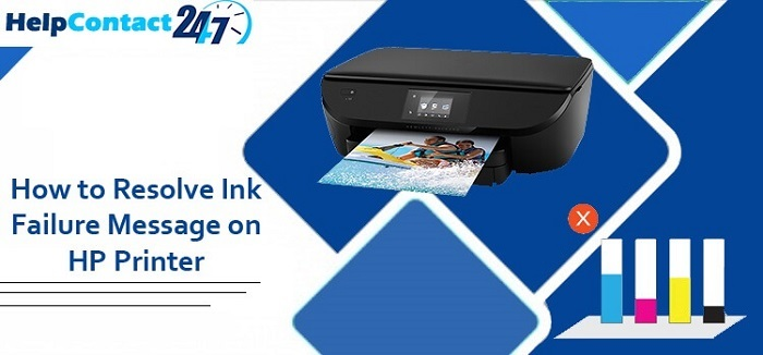 How to resolve ink failure message on HP Printers